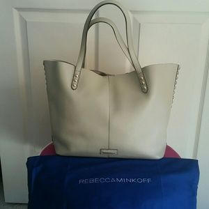Rebecca Minkoff Unlined Studded Leather Totebag